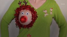 """These 'Sexy Ugly Christmas Sweaters' Are Actually Too Perfect for Breastfeeding Moms - The Etsy store """"YourSassyGrandma"""" has more than one hilariously ugly, utilitarian option for nursing moms this holiday season. #moms"""