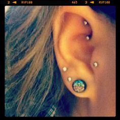 I want my rook done so bad! Then my ear will look like this and I love it
