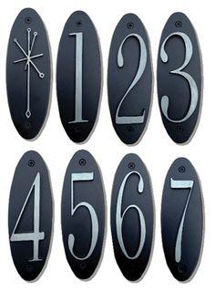 Metropolitan House Numbers Door Knobs, Door Handles, Brick House Colors, Walnut Cabinets, Double Glazed Window, Beautiful Cover, Furniture Hardware, Leaded Glass, House Numbers