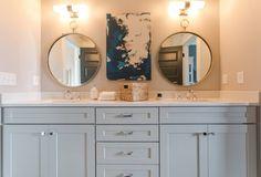 Beautiful Jack 'n Jill bathroom in the House for Hope Designer Show House.  Builder - Carbine & Associates - designers - Amanda Carlson Interiors/Gina Julian - photo by Sam Carbine.