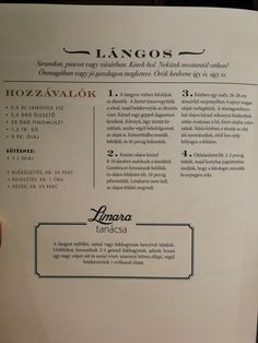 Limara Lángos Tasty, Yummy Food, Hungarian Recipes, Food And Drink, Healthy Eating, Sweets, Bread, Homemade, Snacks