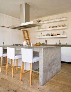 Keuken eiland, betonnen keukenblad More