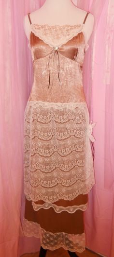 Ladies Small, Size 4 Alternative Wedding Gown, Upcycled Wedding Dress, Lace Dress, Boho Dress, Slip Dress, Upcycled Dress, Shabby Chic Dress