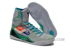 """High Zoom Kobe Bryant 9 Elite """"Hero"""" Wolf Grey/Court Purple with Sports Turquoise Mens Sneakers Nike Kids Shoes, Nike Shox Shoes, Jordan Shoes For Women, New Nike Shoes, New Jordans Shoes, Adidas Shoes, Air Jordans, Sneakers Nike, High Tops"""