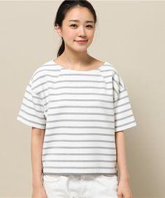 pense'e(パンセ)のボーダープルオーバー(Tシャツ/カットソー)|詳細画像