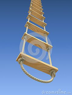 Wooden rope ladder by Yudesign, via Dreamstime playground outdoor play area… – Tracy – Cat playground outdoor Rope Ladder, Diy Ladder, Wooden Ladder, Attic Ladder, Outdoor Play Equipment, Outdoor Play Areas, Survival Knots, Diy Garden Fountains, Backyard Hammock