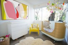 Abstract Wall Painting in nursery