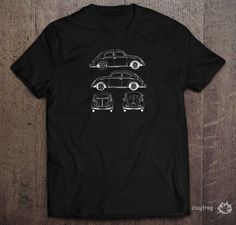 VW Plans / Novelty Themed Mens Black T-Shirt by Clayfrogs on Etsy