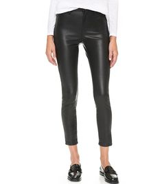 Blank Denim The Principle Mid Rise Vegan Leather Skinny Pants ($98)