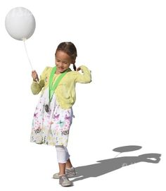 A young girl with a balloon