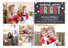 Confetti Chalkboard Collage Christmas  Photo Card