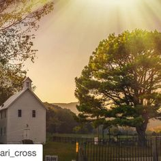 #Repost @chari_cross with @repostapp.  Boxley Valley Church at twilight Newton County Arkansas