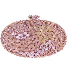 Bonjanvye Round Shape Floral Clutch Purses For Women' s Clutches (€21) ❤ liked on Polyvore featuring bags, handbags, clutches, round handbag, floral purse, round purse, flower print handbags and floral print purse