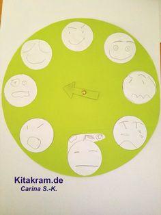 Das bin ich! - Ideen zum Kennenlernen eigener Gefühle - KitaKram.de Kindergarten Online, Textiles, Diagram, Chart, Teaching, Aso, Feelings And Emotions, Preschool Teacher Tips, Social Emotional Learning