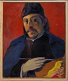 Self-Portrait with Palette, 1893-94, Paul Gauguin