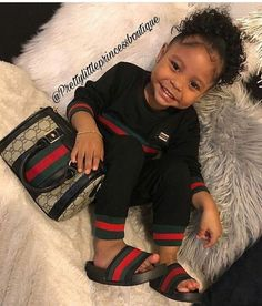 A cute assortment of baby girl fashion attire that involves really gorgeous designs and hues. So Cute Baby, Cute Mixed Babies, Cute Black Babies, Black Baby Girls, Beautiful Black Babies, Pretty Baby, Cute Babies, Baby Kids, Baby Swag Girl