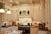 Image result for upper kitchen cabinets with pitched ceiling