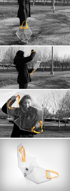 The Shield Satchel's design logic is a rather interesting one. It doesn't solve a conventional problem, but rather, brings about a balance in the scales of justice. With the amount of political unrest in today's world, with people rallying to protest decisions made by our governments, or fellow citizens, or even civic bodies, the Shield Satchel becomes a personal safety device.