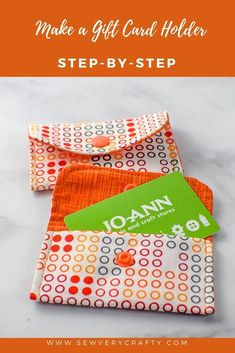 How to Make a Fabric Gift Card Holder - How to Make a Fabric Gift Card Holder . - How to Make a Fabric Gift Card Holder – How to Make a Fabric Gift Card Holder – Sew Very Craft - Sewing Basics, Sewing Hacks, Sewing Tutorials, Sewing Crafts, Basic Sewing, Sewing Tips, Sewing Ideas, Fabric Cards, Fabric Gift Bags