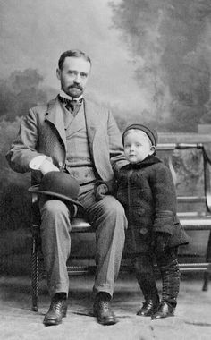 Baby F. Scott Fitzgerald with his father.