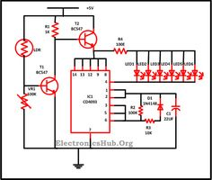 Solar powered led light circuit diagram and schematic design ...