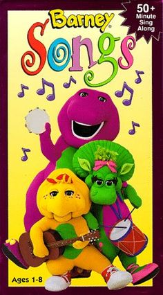 "Barney Songs [VHS]: Popular songs from the hit show ""Barney"". Vhs Movie, Pixar Movies, Childhood Tv Shows, Childhood Memories, Barney Birthday, Barney The Dinosaurs, Barney & Friends, Tv Detectives, The Wiggles"