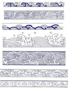 wave pattern tattoos Tattoo Ideas - etc Geometric Pattern Tattoo, Abstract Pattern, Pattern Tattoos, Geometric Tattoos, Chinese Patterns, Japanese Patterns, Aztec Patterns, Japanese Waves, Japanese Art