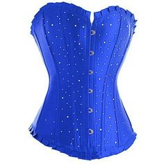 30d5cd0f1 Blue Diamante Corset-Promotional  would like to find this in a steel boned  version for my wedding.