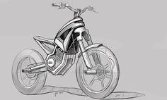 Bike sketches by Joseph Nelson, via Behance