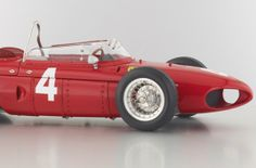 1961 Ferrari Dino 156 F1 Sharknose Diecast Model Start No. 4 LE 500 pieces by CMC in 1:12 Scale