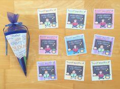 Materialwiese: Willkommenskärtchen für die 1. Klasse in der Grundschule