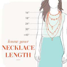 A necklace length guide. Because jewelry shopping shouldnt be a math project.
