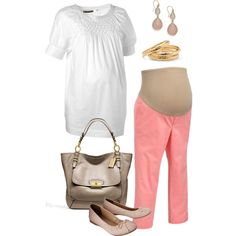 Casual Friday Maternity Fashion! Get the look for under $30! MotherhoodCloset.com
