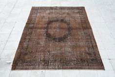 Overdyed Vintage Rug 5.5 X 9.5 FT ( 168 X 290 CM ) - Area Rugs
