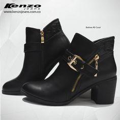 Los zapatos de tacón bajo son la mejor elección si te gusta ir cómoda y a la moda y los encuentras en #KenzoJeans www.kenzojeans.com.co