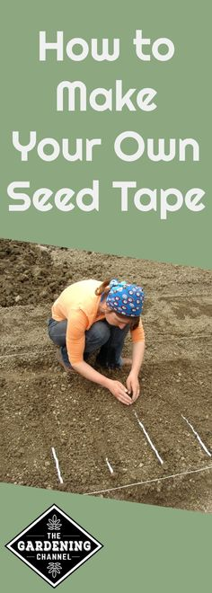 Learn to make your own seed tape for to prevent wasting seeds with this DIY guide.