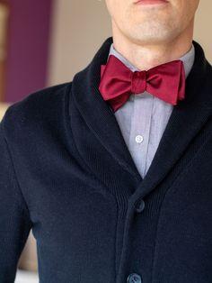 Black Italian Satin Plain Bow Tie Wedding Bowties Self Tie Bow Ties
