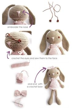 Lon Eared Bunny Amigurumi - Crochet Pattern & Tutorial
