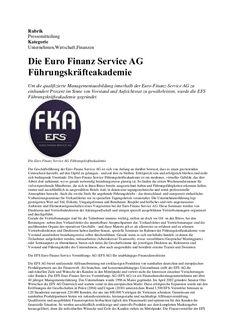 Die Euro Finanz Service AG Führungskräfteakademie