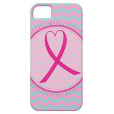 Pink Ribbon Chevron Iphone Case