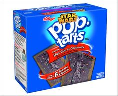 Can you picture a better night than sitting at home with a box of Kellogg's Pop Tarts and the entire series of Star Wars movies? Ok, maybe it would be better if you had some Star Wars custom Pop Tarts. Pop Tarts, Pop Tart Flavors, Weird Oreo Flavors, Han Solo Frozen, Funny Food Memes, Funny Pranks, Stormtrooper, Darth Vader, Star Wars Han Solo