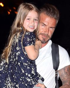 Harper Beckham looked adorable as she flashed photographers a huge grin as she arrived at LAX this weekend [X17]