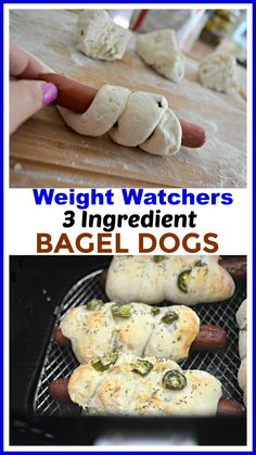 Aug 2018 - These delicious Air Fryer Bagel Dogs are a yummy Weight Watchers friendly treat idea the whole family will enjoy! Air Fryer Recipes Weight Watchers, Weight Watchers Casserole, Weight Watchers Chicken, Weight Watchers Meals, Air Fry Recipes, Hot Dog Recipes, Ww Recipes, Light Recipes, Cooking Recipes