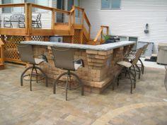 Patio Bar  #landscaping #backyard #bar #patio