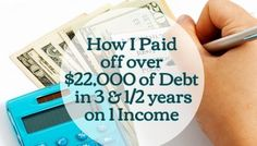 How I paid off over 22,000 of debt