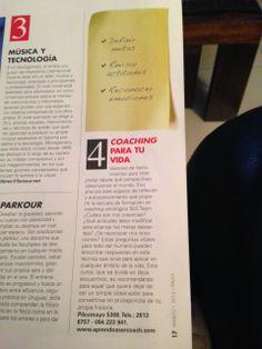 Coaching para tu Vida - Una herramienta para accionar lo que deseamos. Dá un paso adelante!!!! Revista Paula - 14 Marzo 2014