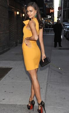 blue tight bandage dresses | ... Leger Irina Shayk New Fashion Yellow Wrinkled Neckline Bandage Dress