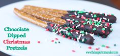 Dipped Pretzels and Homemade Cheese Straws #holiday #baking #Christmas #recipe
