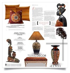 """Tribal Decor"" by terry-tlc ❤ liked on Polyvore featuring interior, interiors, interior design, home, home decor, interior decorating, Mariska Meijers, NOVICA, Universal Lighting and Decor and tribaldecor"