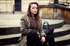 Bag - Oriflame, Winter Jacket - Zara,  Leggings - H&M